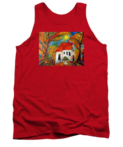 Landscape With The House Tank Top by Mikhail Savchenko