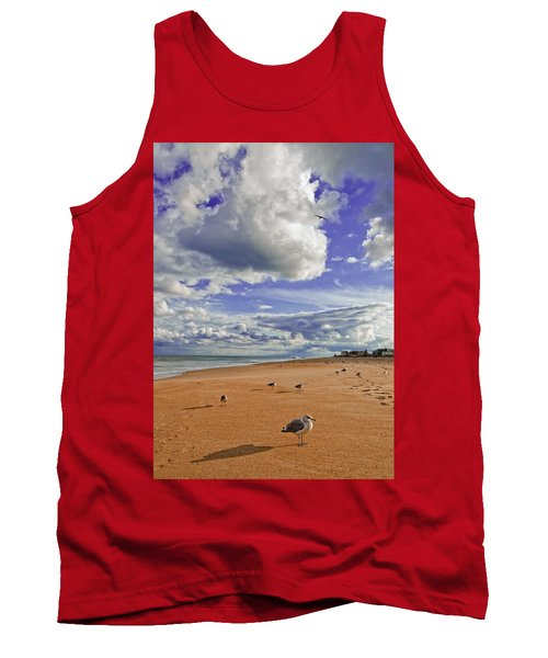 Tank Top featuring the photograph Last Day At The Beach by Jim Moore