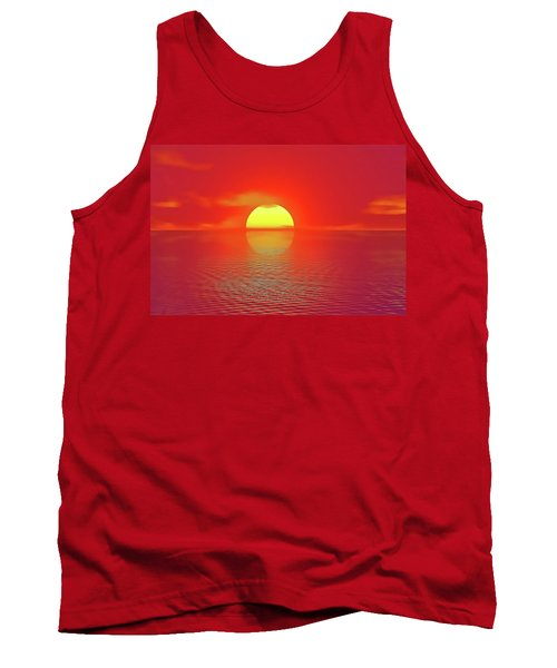 Tank Top featuring the painting Last Sunset by Harry Warrick