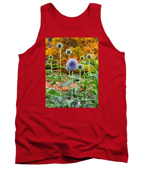 Late Bloom Among Fall Colors Tank Top