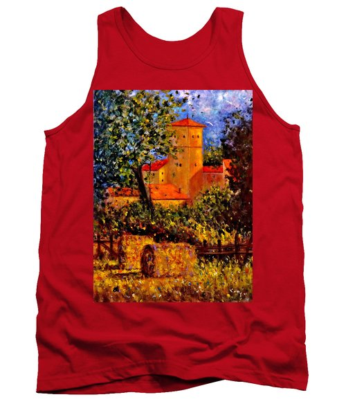 Tank Top featuring the painting A Gust Of Wind.. by Cristina Mihailescu