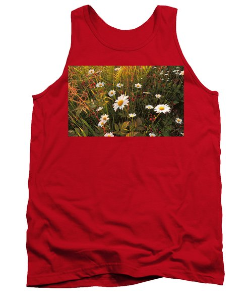 Lazy Days Daisies Tank Top by Karen Horn