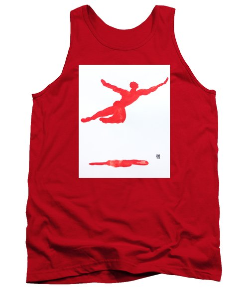Leap Water Vermillion Tank Top by Shungaboy X