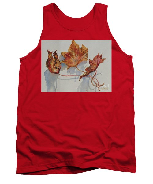 Tank Top featuring the painting Leaves Of Fall by Mary Haley-Rocks