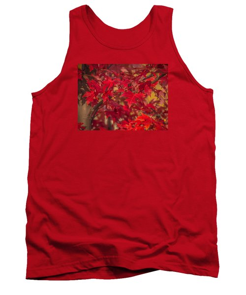 Tank Top featuring the photograph Leaves Of Red by Cathy Donohoue