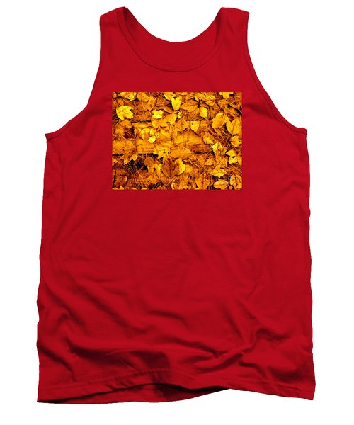 Leaves Of Sepia Tank Top by Cathy Dee Janes