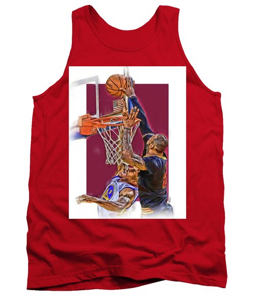 Lebron James Cleveland Cavaliers Oil Art Tank Top