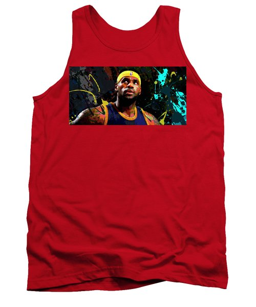 Tank Top featuring the painting Lebron by Richard Day