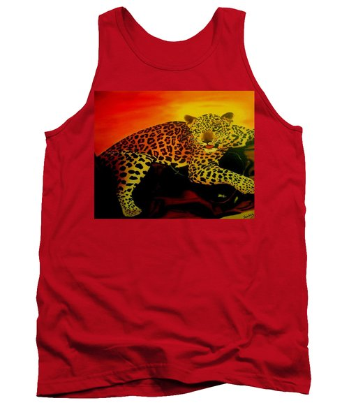 Leopard On A Tree Tank Top