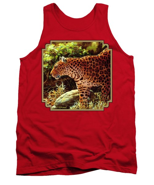 Leopard Painting - On The Prowl Tank Top