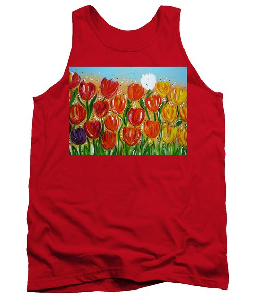 Les Tulipes - The Tulips Tank Top by Gioia Albano