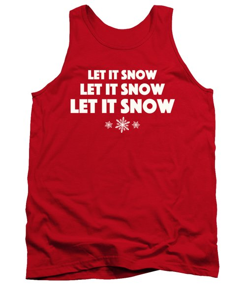 Let It Snow With Snowflakes Tank Top by Heidi Hermes