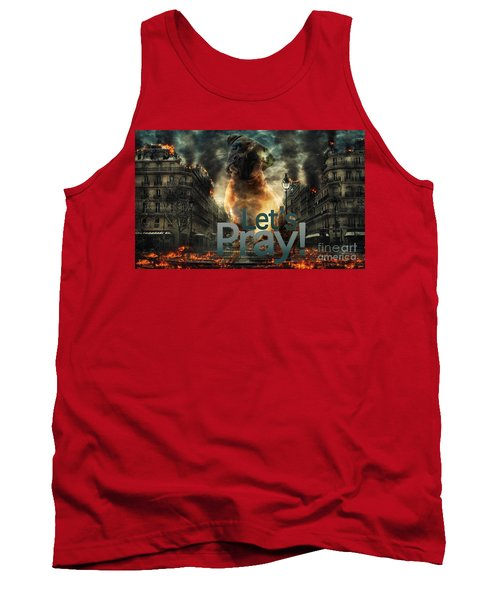 Tank Top featuring the digital art Let Us Pray-2 by Kathy Tarochione
