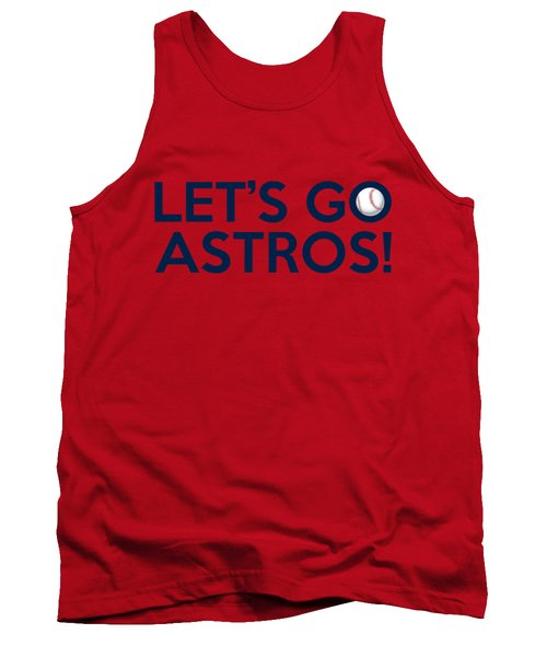 Let's Go Astros Tank Top