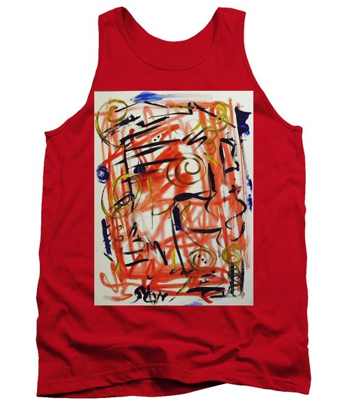 Life Should Be Filled With Spontaneity Tank Top by Mary Carol Williams