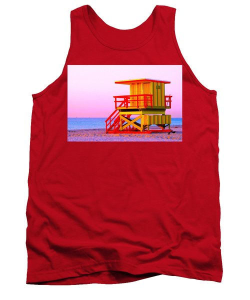 Lifeguard Stand Miami Beach Tank Top