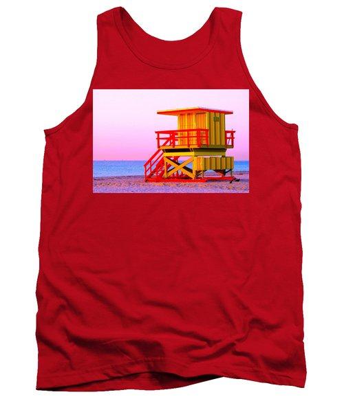 Lifeguard Stand Miami Beach Tank Top
