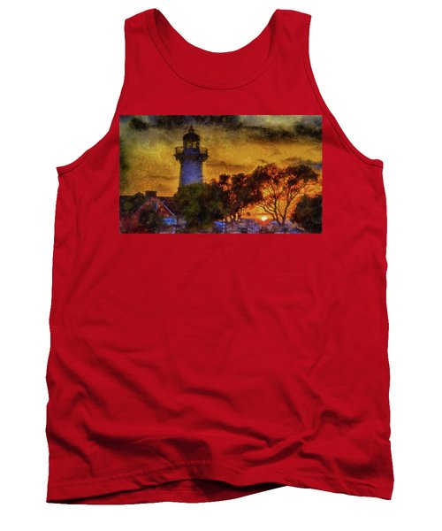 Lighthouse Sunset Tank Top