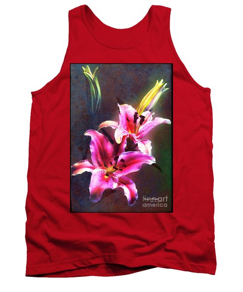 Lilies At Night Tank Top