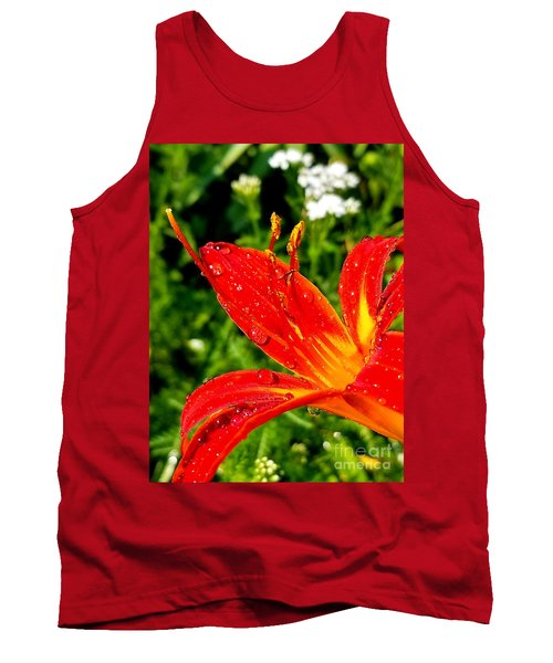 Lily And Raindrops Tank Top
