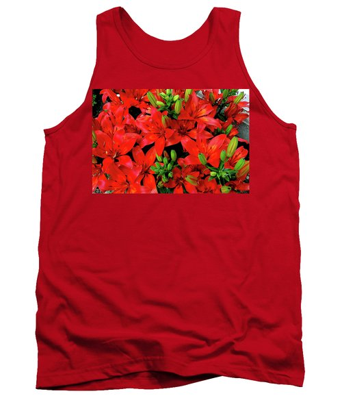 Tank Top featuring the photograph Lily Blossoms by LeeAnn McLaneGoetz McLaneGoetzStudioLLCcom