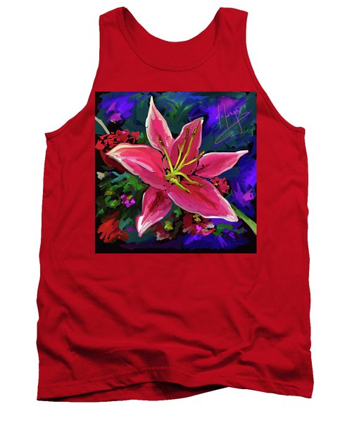 Tank Top featuring the painting Lily by DC Langer