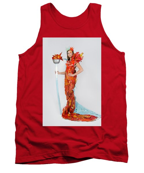 Lily In Fire And Ice Queen Tank Top