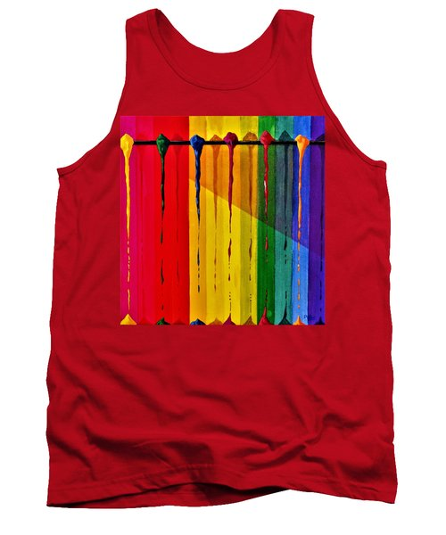 Line Of Fall Colors Tank Top