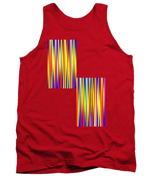 Tank Top featuring the digital art Lines 17 by Bruce Stanfield