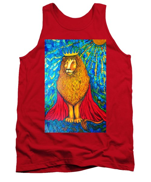 Tank Top featuring the painting Lion-king by Rae Chichilnitsky