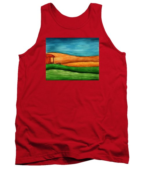 Little House On Hill Tank Top by Brenda Bryant
