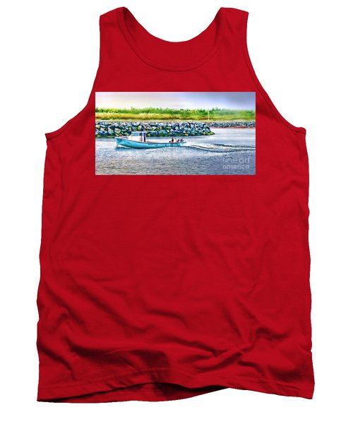 Lobster Fishing Day's End Tank Top by Patricia L Davidson