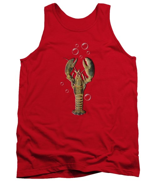 Lobster With Bubbles T Shirt Design Tank Top
