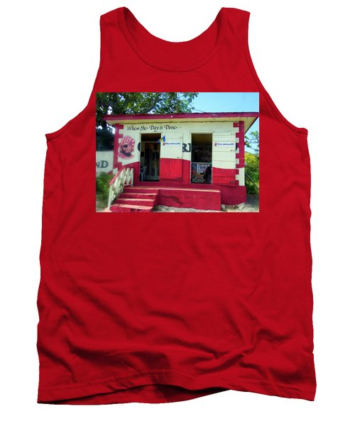 Tank Top featuring the photograph Local Rum Shop, Barbados by Kurt Van Wagner