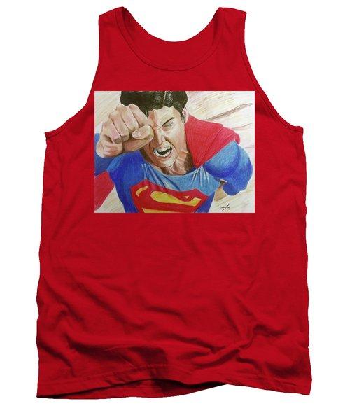 Tank Top featuring the drawing Lois' Death by Michael McKenzie
