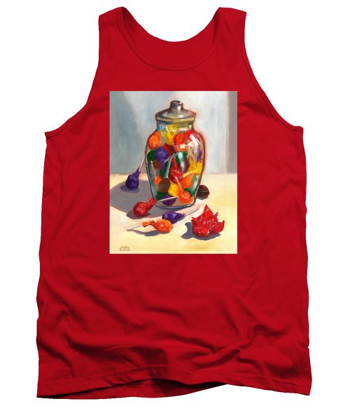 Tank Top featuring the painting Lollipops by Susan Thomas