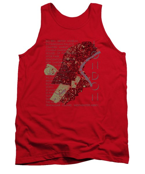 London Classic Map Tank Top by Jasone Ayerbe- Javier R Recco