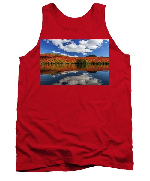 Long Pond And Clouds Tank Top