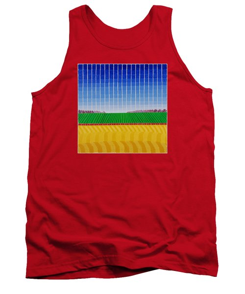 Long Red Train Tank Top