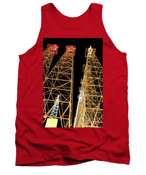 Looking Up At The Kilgore Lighted Derricks Tank Top by Kathy  White
