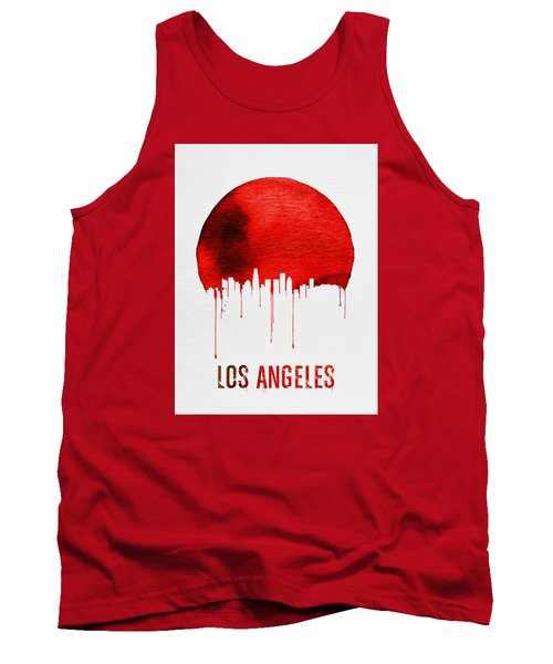 Los Angeles Skyline Red Tank Top