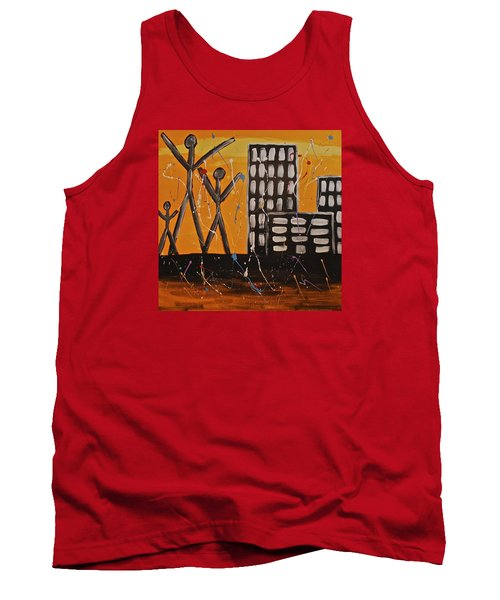 Tank Top featuring the painting Lost Cities 13-002 by Mario Perron