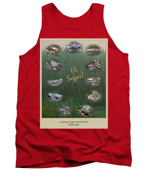 Louisiana Sugar Cane Poster 2008-2009 Tank Top by Ronald Olivier