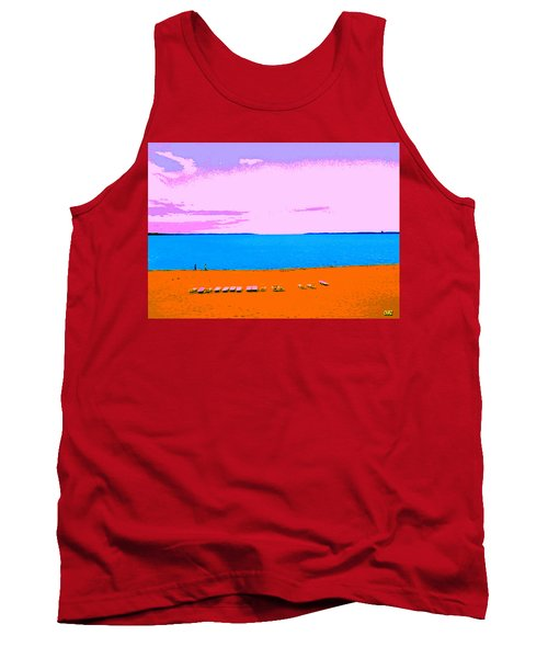 Lounge Chairs On The Beach Tank Top