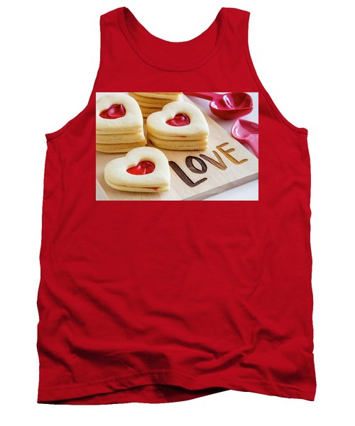 Tank Top featuring the photograph Love Heart Cookies by Teri Virbickis
