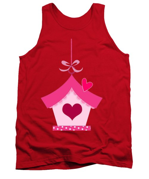 Love House T-shirt Tank Top by Herb Strobino