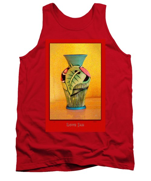 Love Jar Red Background Tank Top
