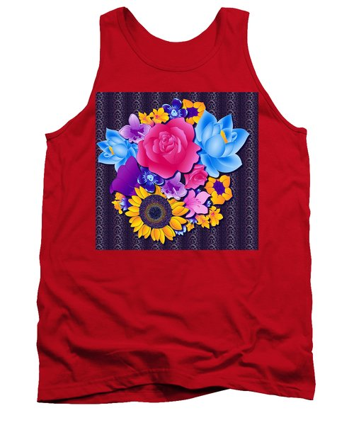 Lovely Bouquet Tank Top by Samantha Thome