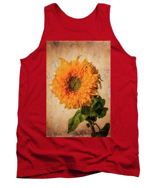 Lovely Textured Sunflower Tank Top