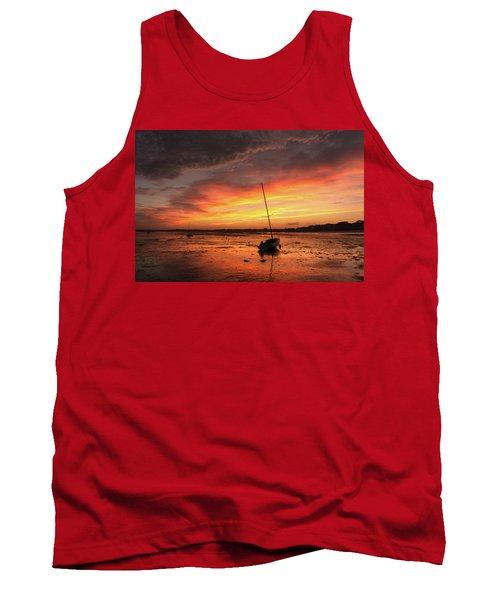 Low Tide Sunset Sailboats Tank Top